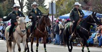 Sheriff's Office Mounted Posse Members riding in the 2015 Veterans Day Parade in Albany, Oregon