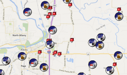 snapshot of Crime/Incident Map