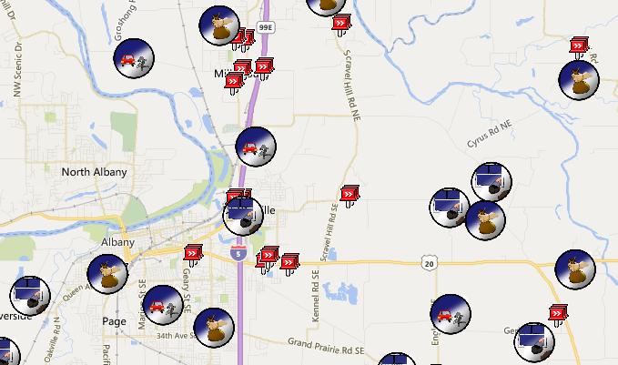 Crime/Incident Map   Linn County Sheriff's Office